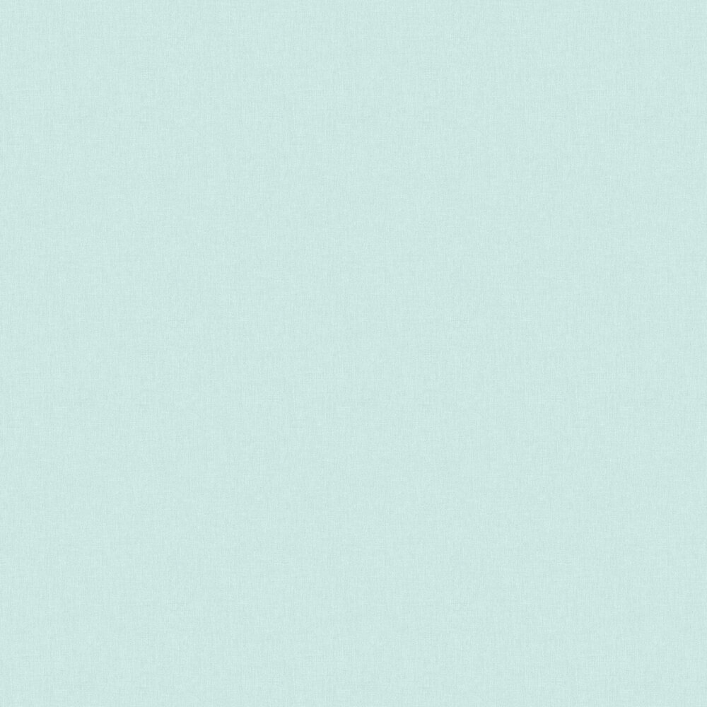 Linen Wallpaper - Pale Turquoise - by Caselio
