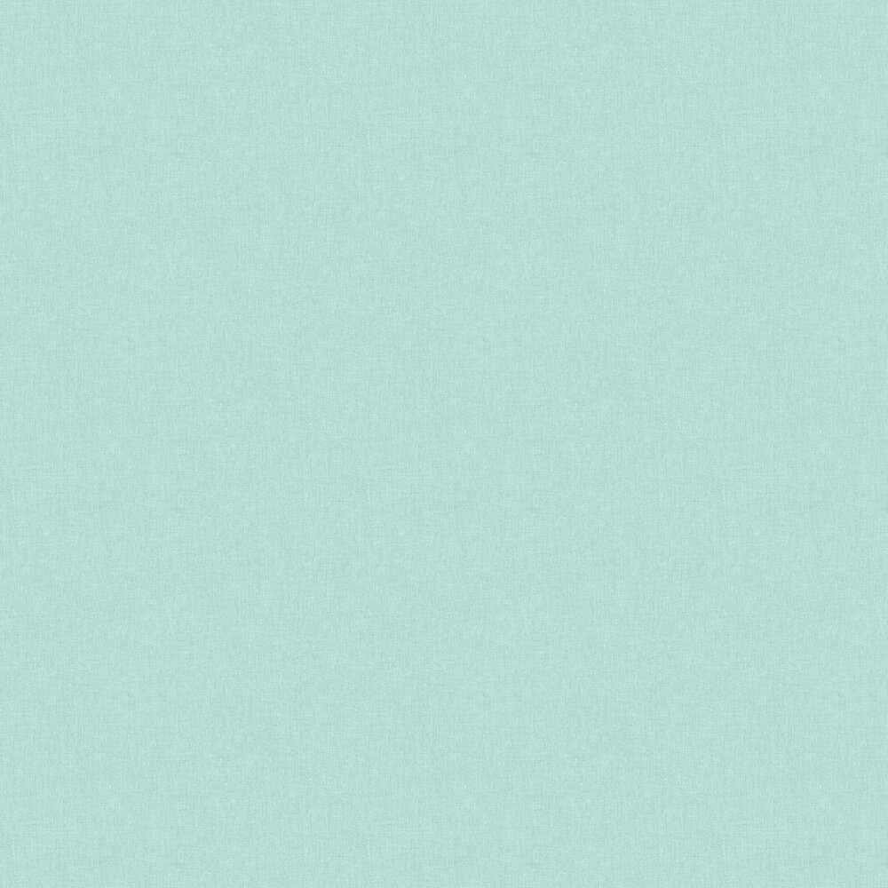 Linen Wallpaper - Turquoise - by Caselio