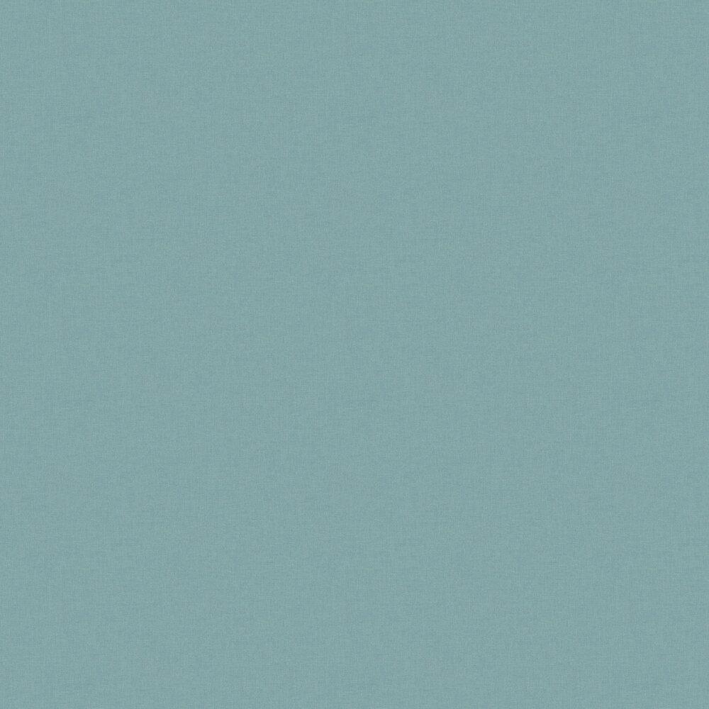 Linen Wallpaper - Blue Silver - by Caselio