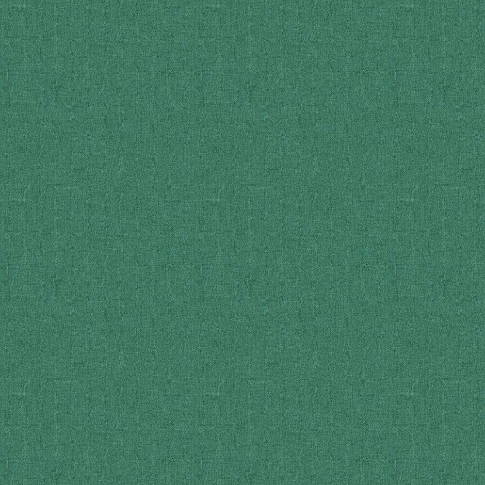 Linen Wallpaper - Dark Green - by Caselio