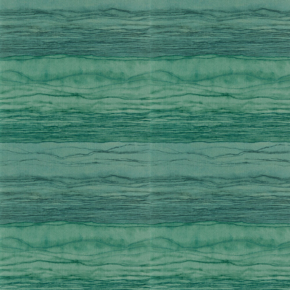 Metamorphic Wallpaper - Amazonite and Apatite - by Anthology