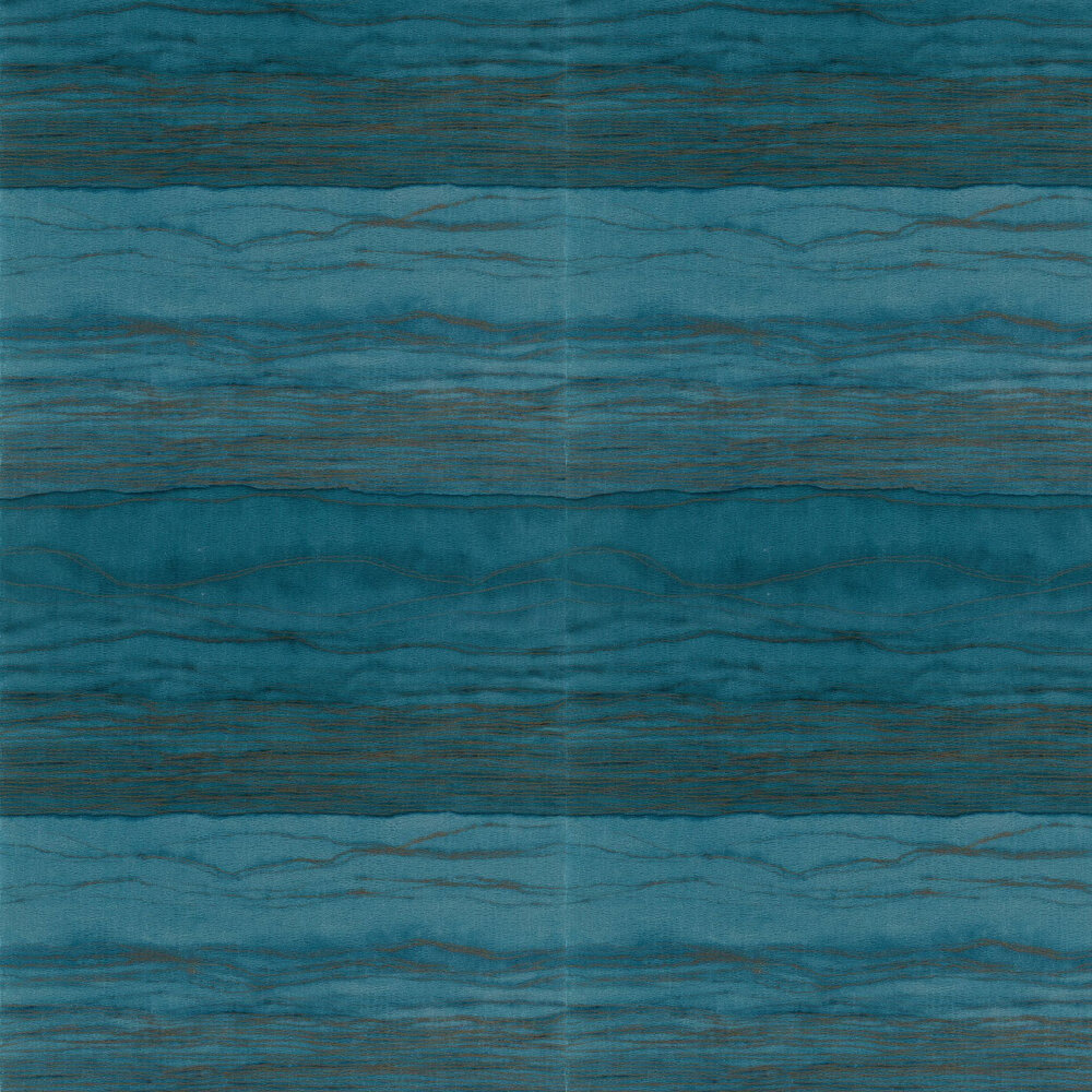 Metamorphic Wallpaper - Lapis and Copper - by Anthology