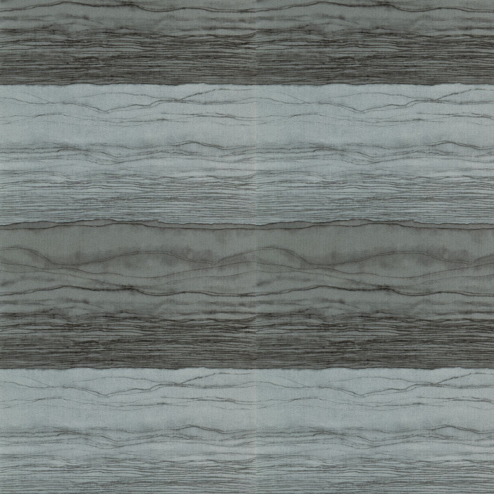Metamorphic Wallpaper - Pewter and Lead - by Anthology