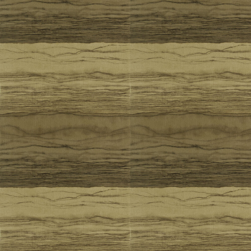 Metamorphic Wallpaper - Gold and Basalt - by Anthology