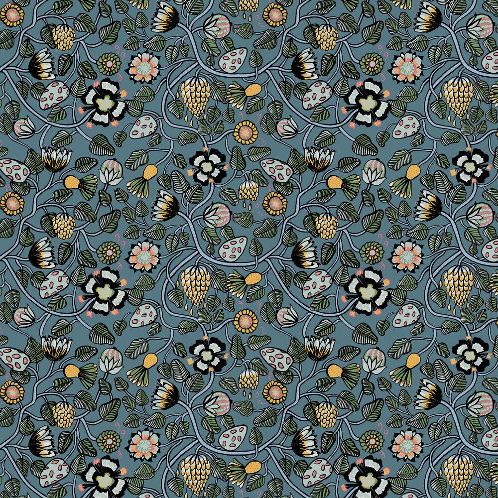 Marimekko Pieni Tiara Blue Wallpaper - Product code: 23330