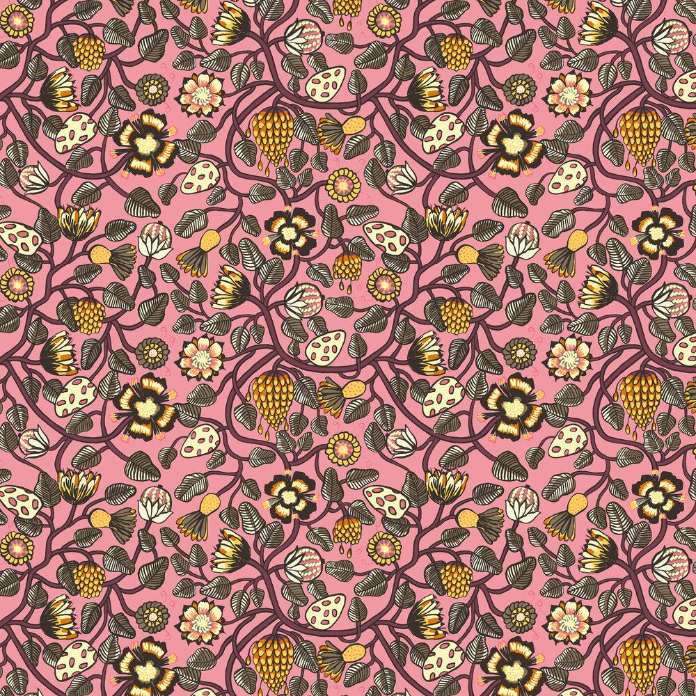 Marimekko Pieni Tiara Pink Wallpaper - Product code: 23331