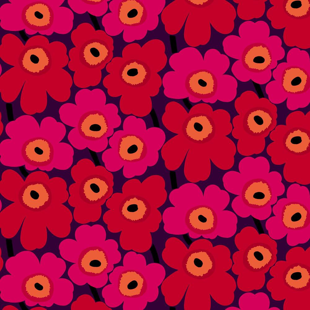 Unikko Wallpaper - Reds - by Marimekko