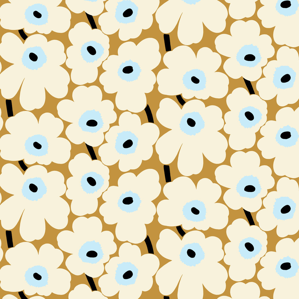 Marimekko Unikko Buttercream Wallpaper - Product code: 23352