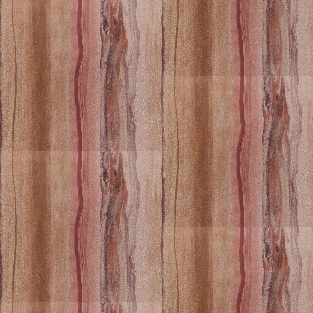 Vitruvius Wallpaper - Copper and Ruby - by Anthology