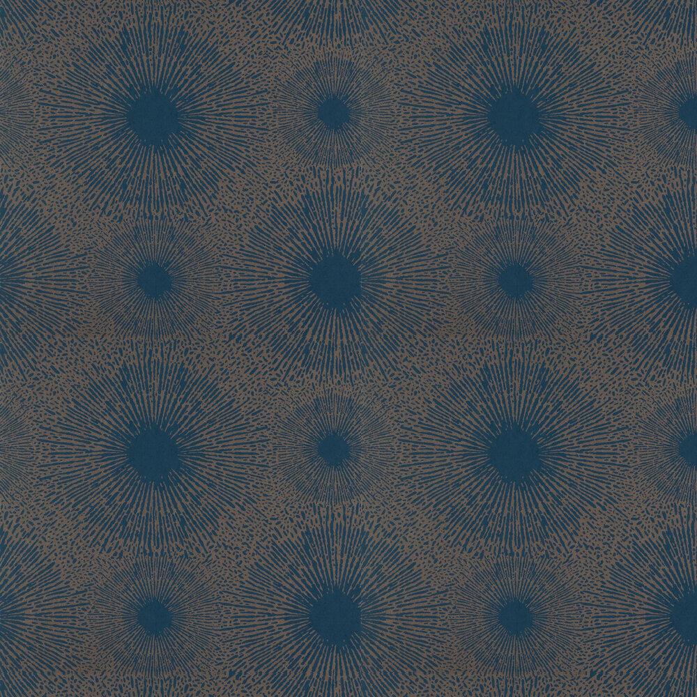 Perlite Wallpaper - Lapis and Copper - by Anthology