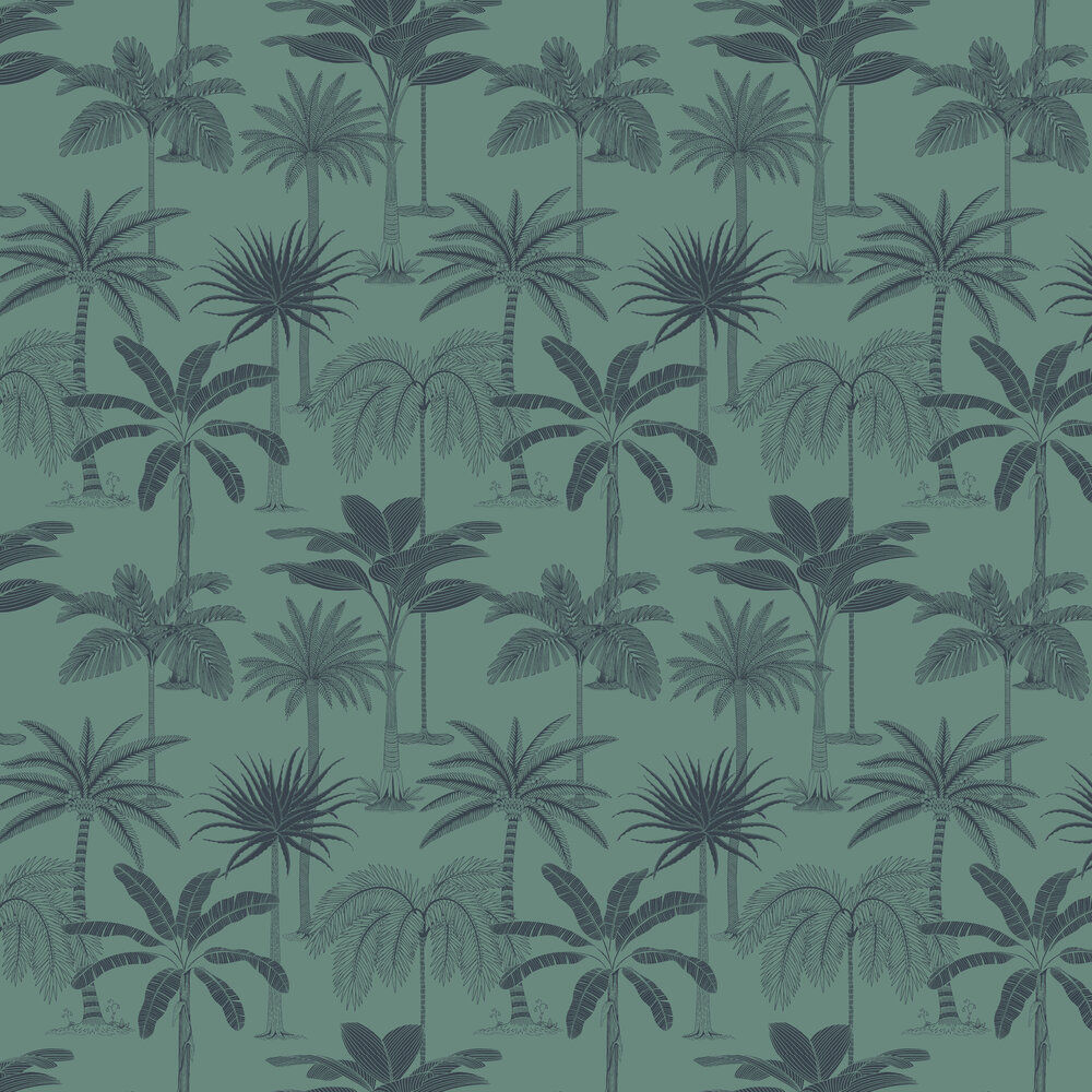 Hooked on Walls Royal Teal Wallpaper - Product code: 36505