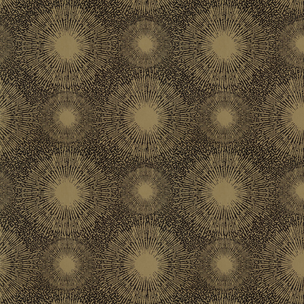 Perlite Wallpaper - Gold and Coal - by Anthology