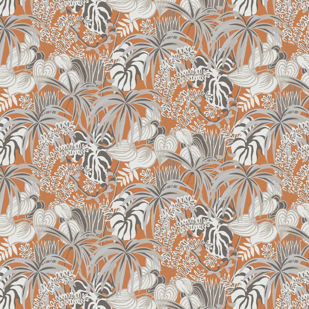 Hooked on Walls Greenery Orange Wallpaper - Product code: 36515