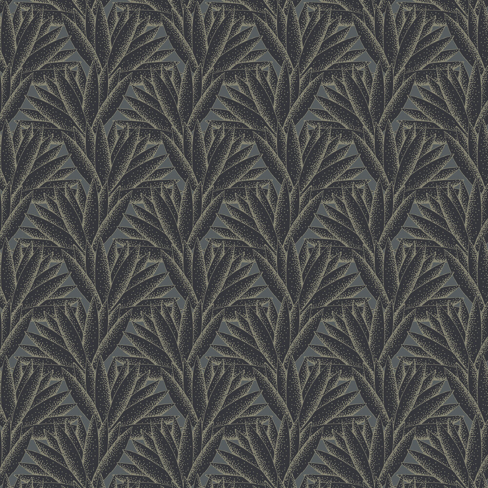 Majestic Wallpaper - Black / Gold - by Hooked on Walls