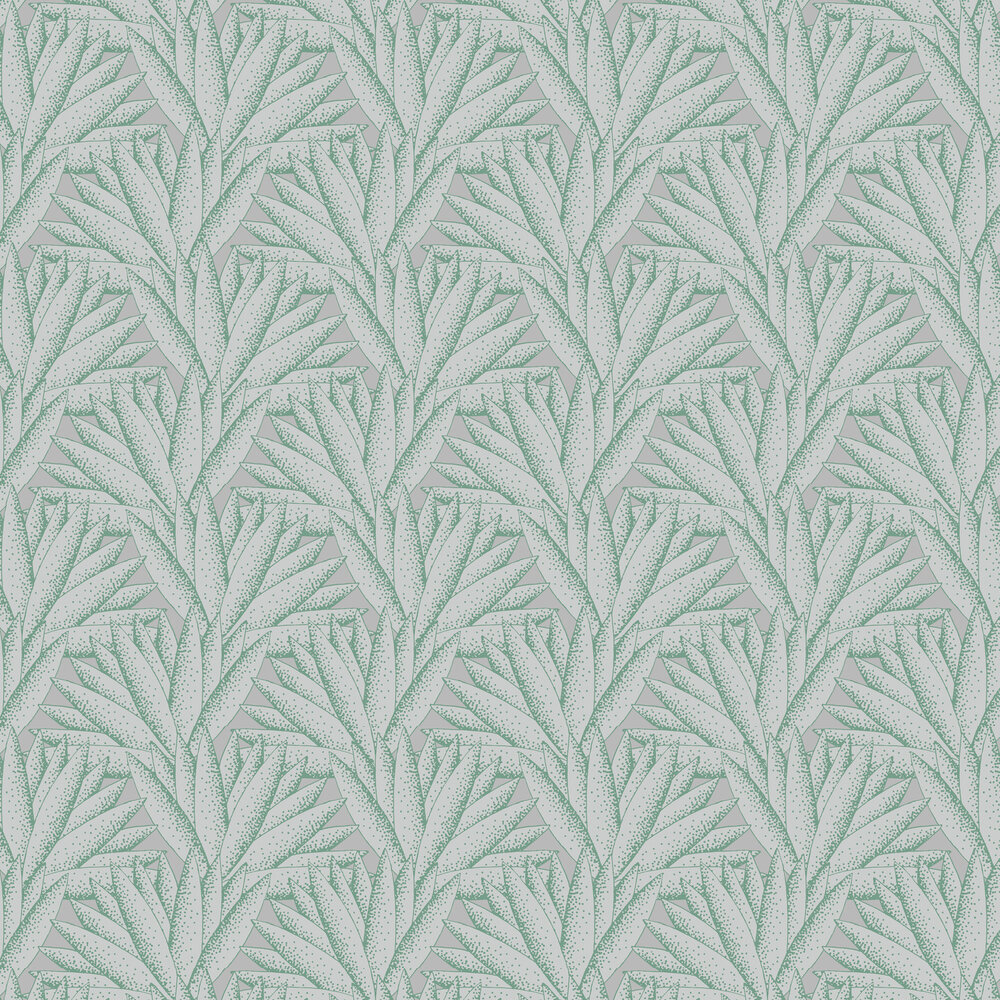 Majestic Wallpaper - Mint white - by Hooked on Walls