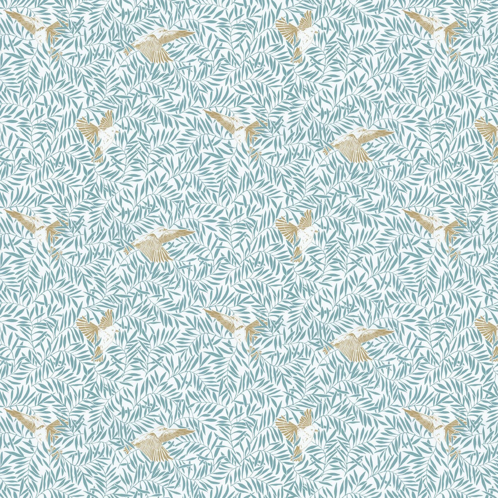 Birdy Wallpaper - Blue - by Caselio
