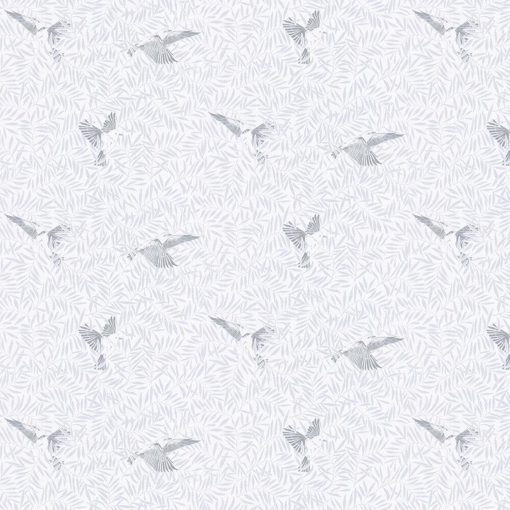 Birdy Wallpaper - Grey - by Caselio