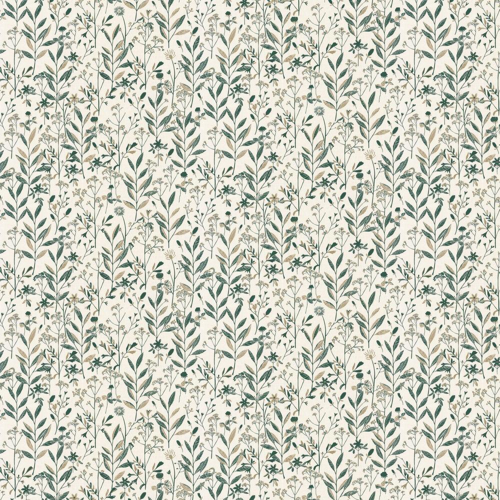 Laura Wallpaper - Emerald Green - by Caselio
