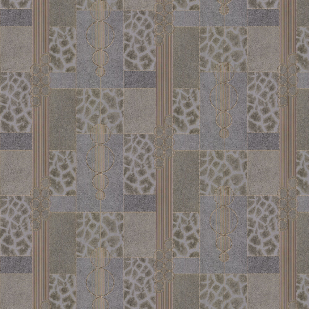 Serengeti Faux Fur Wallpaper - Gold/ Grey - by Albany