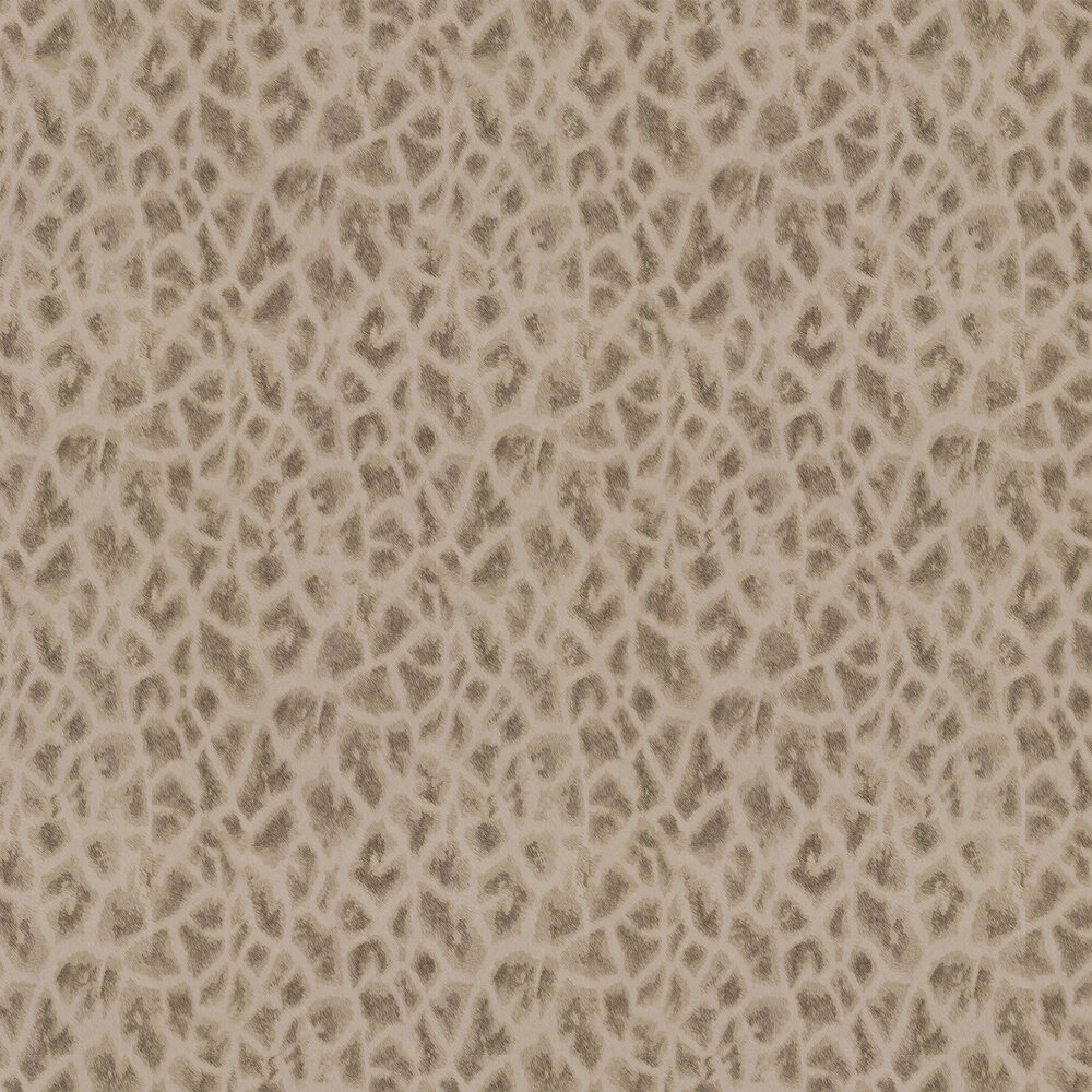 Giraffe Faux Fur Wallpaper - Gold/ Light Coffee - by Albany