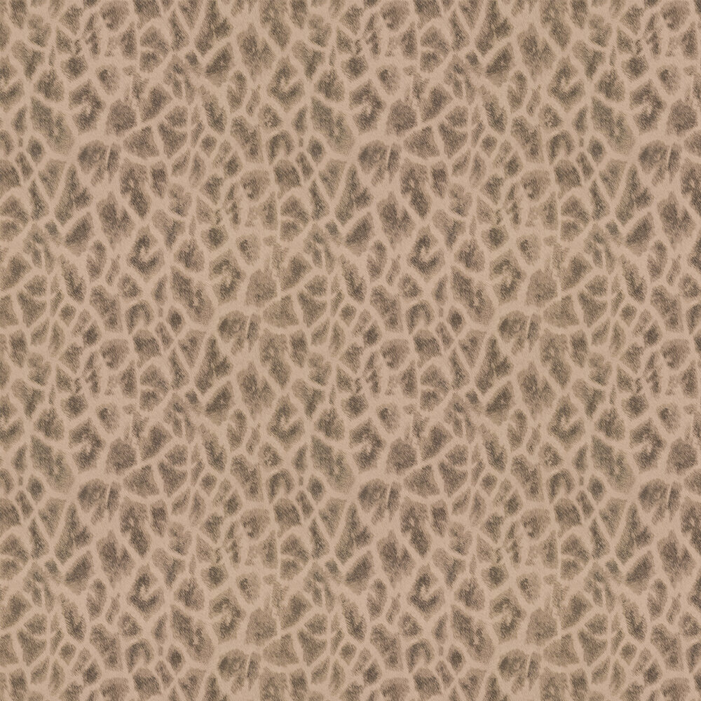 Giraffe Faux Fur Wallpaper - Gold/ Dark Coffee - by Albany