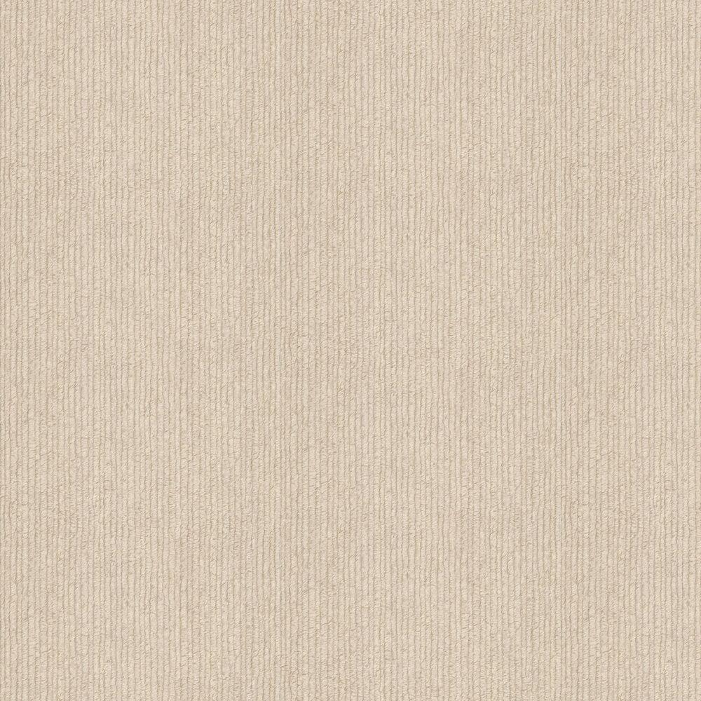 Stripe Fur Effect Wallpaper - Light Beige - by Albany