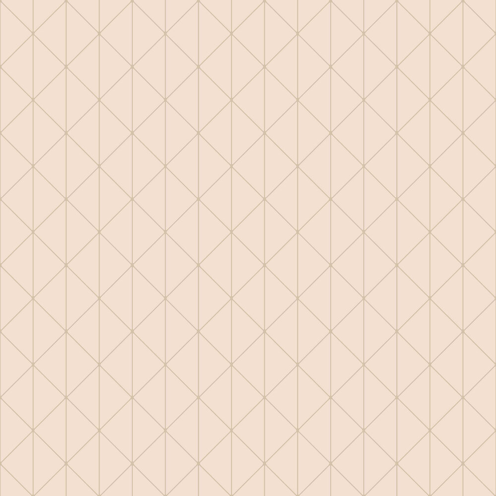 Diamonds Wallpaper - Blush and Gold - by Engblad & Co