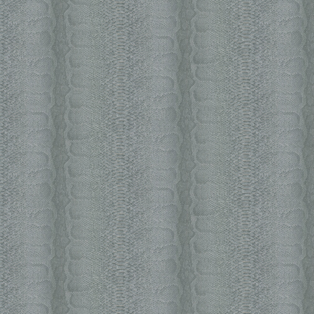 Albany Python Skin Faux Cyan Blue Wallpaper - Product code: 88730