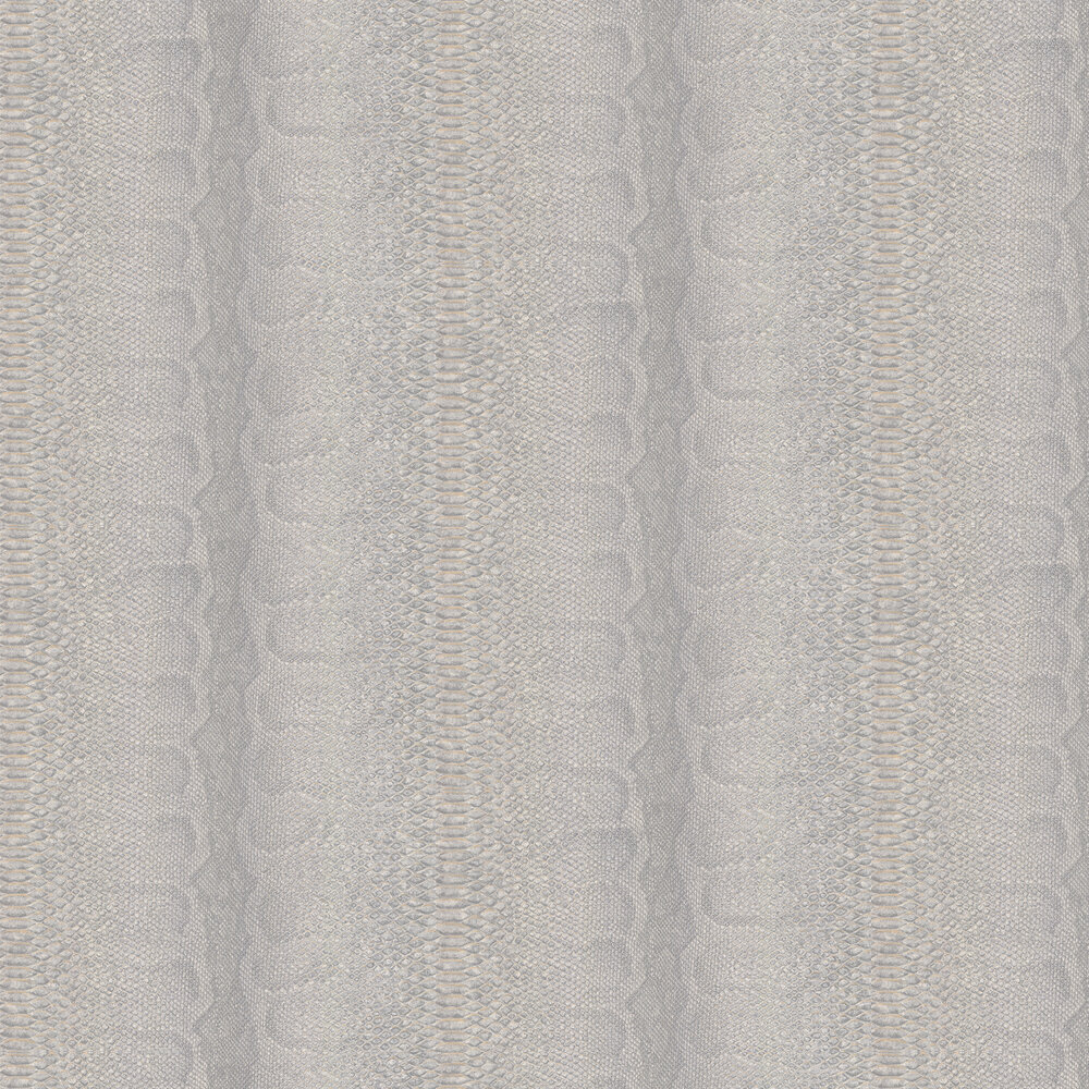 Python Skin Faux Wallpaper - Grey - by Albany
