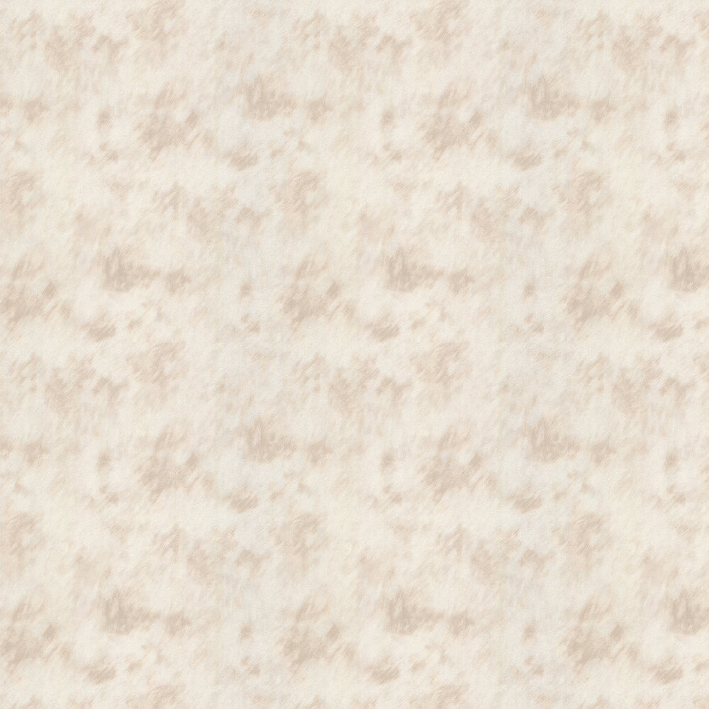 Cow Fur Faux Wallpaper - Silver/ Cream - by Albany