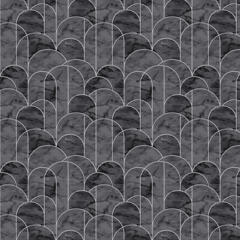 Arch Wallpaper - Grey and Black - by Engblad & Co