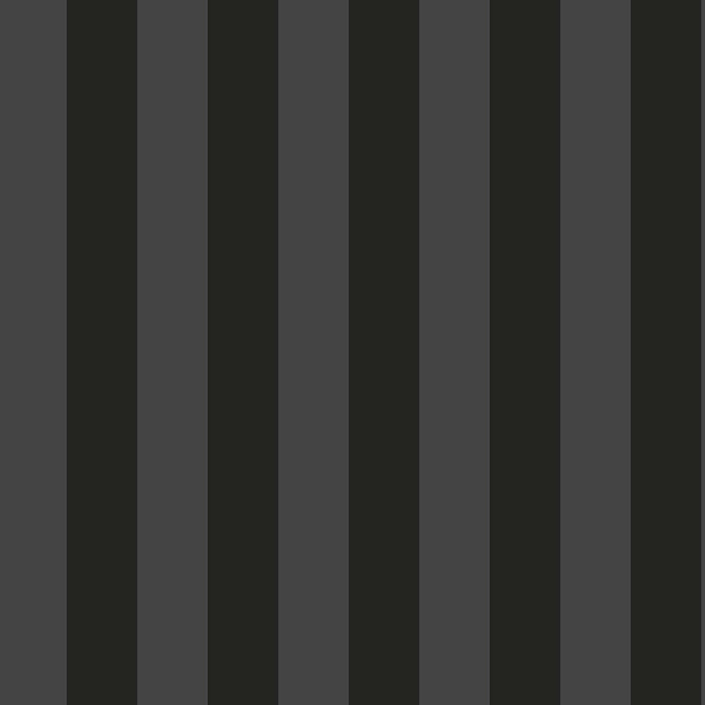 Stripe M Wallpaper - Black and Grey - by Engblad & Co