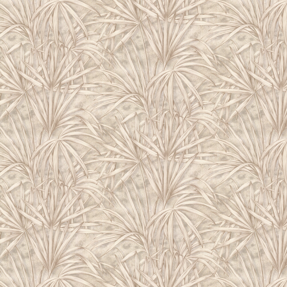Palm Tree Effect Wallpaper - Gold/ Cream - by Albany