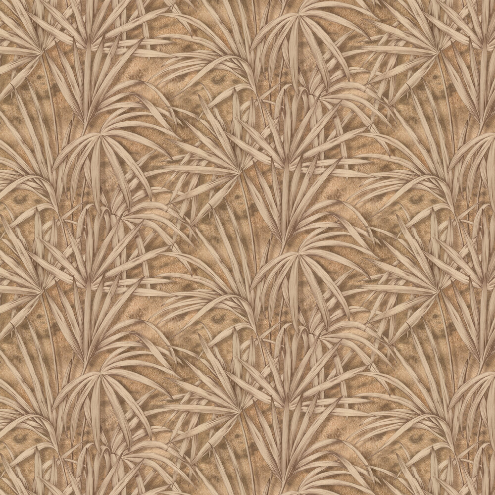Palm Tree Effect Wallpaper - Gold/ Brown - by Albany