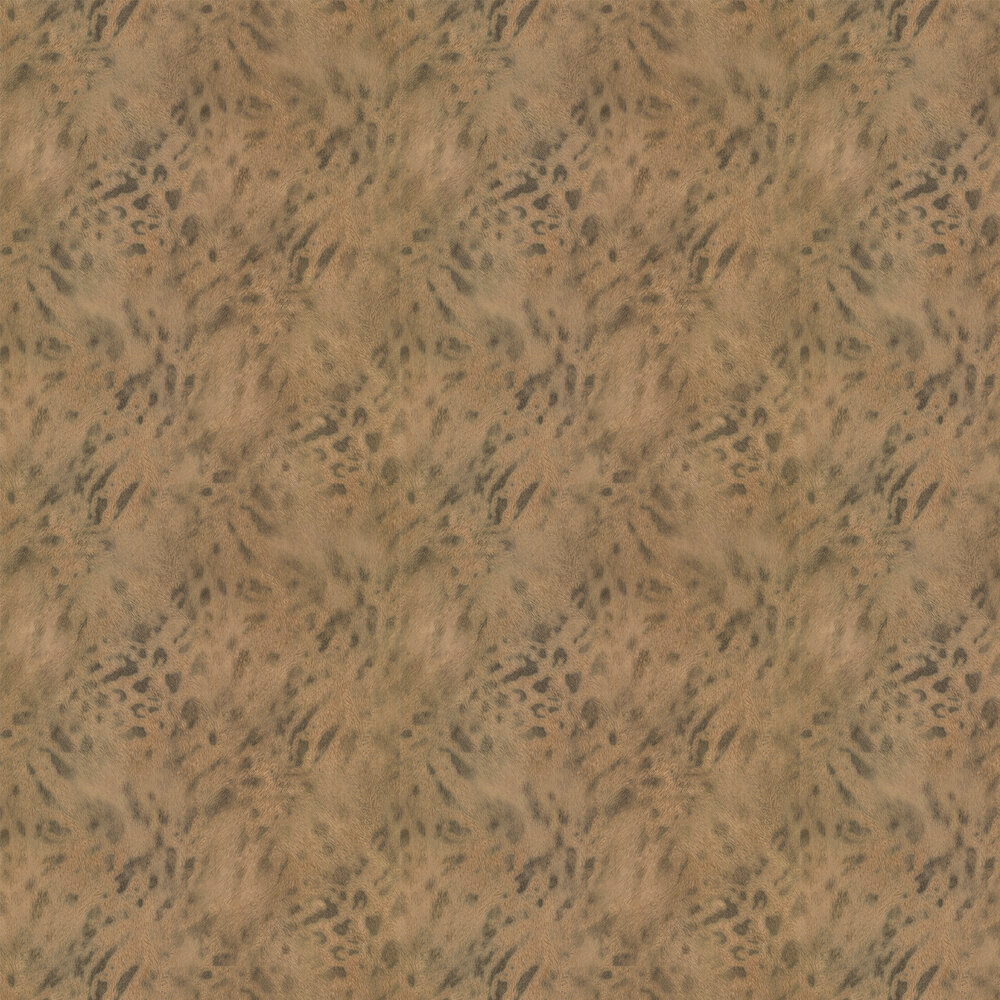 Jaguar Fur Faux Wallpaper - Gold/ Dark Coffee - by Albany