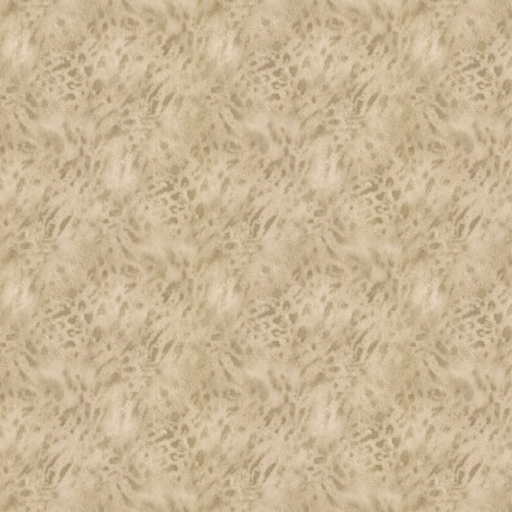 Jaguar Fur Faux Wallpaper - Gold/ Beige - by Albany