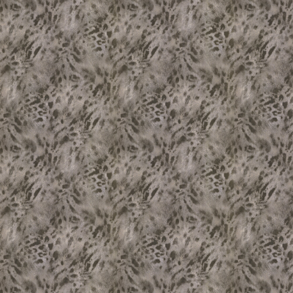 Jaguar Fur Faux Wallpaper - Gold/ Grey - by Albany