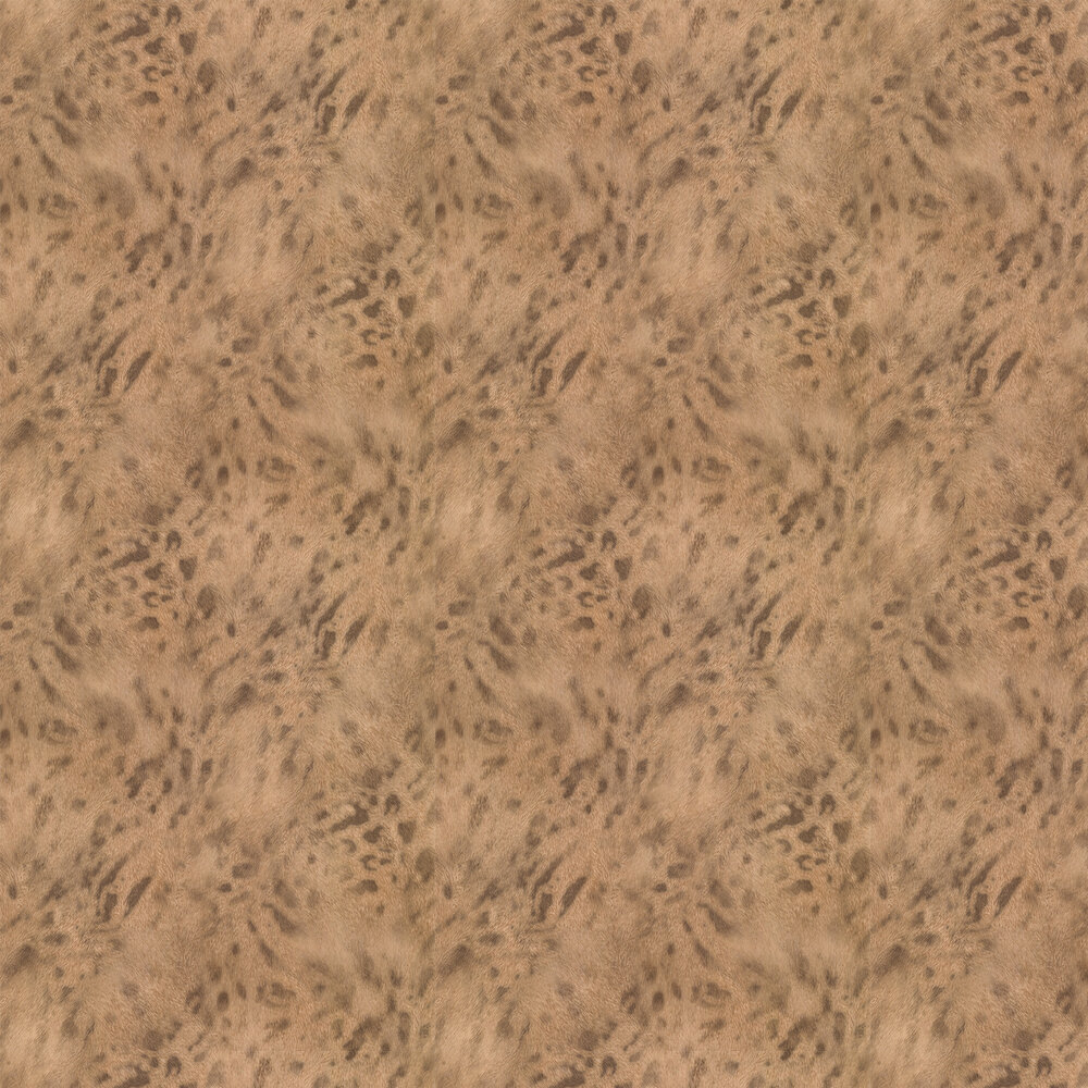 Jaguar Fur Faux Wallpaper - Gold/ Brown - by Albany