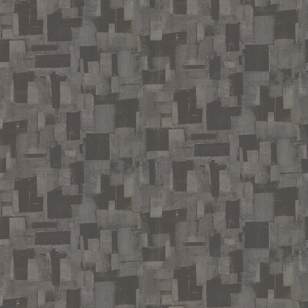 Cubist Wallpaper - Charcoal - by Threads