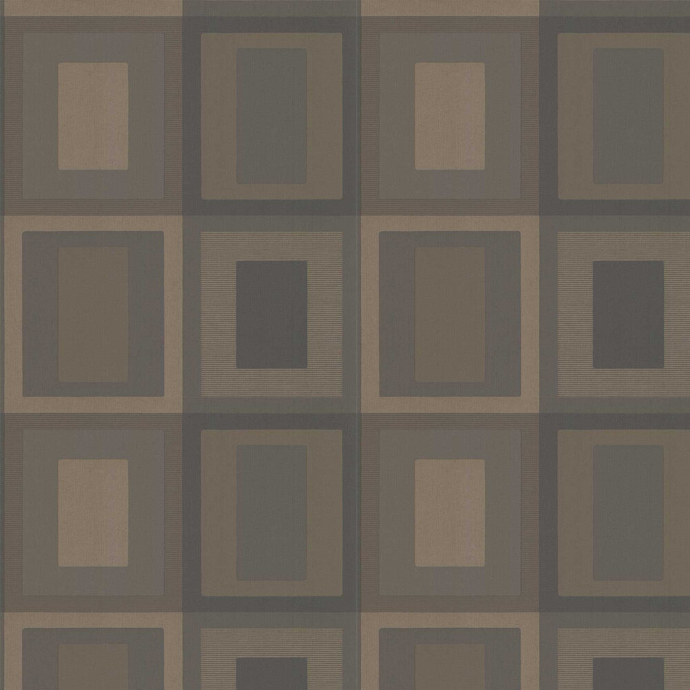 Moro Wallpaper - Charcoal/ Bronze - by Threads