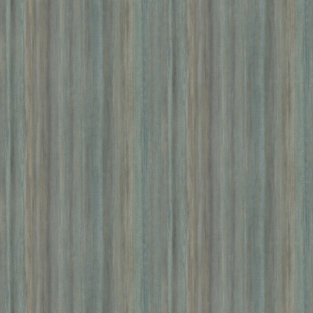 Painted Stripe Wallpaper - Teal - by Threads
