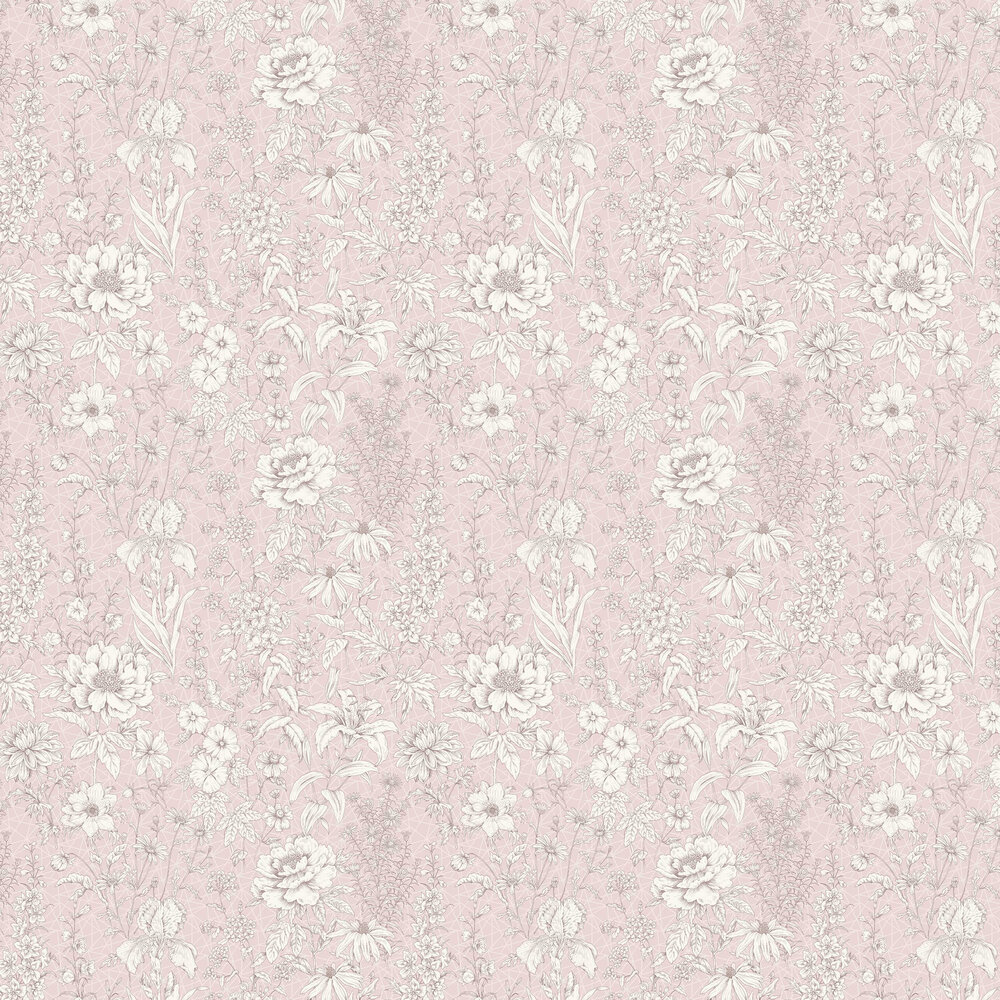 Lavana Floral Wallpaper - Pink - by Albany