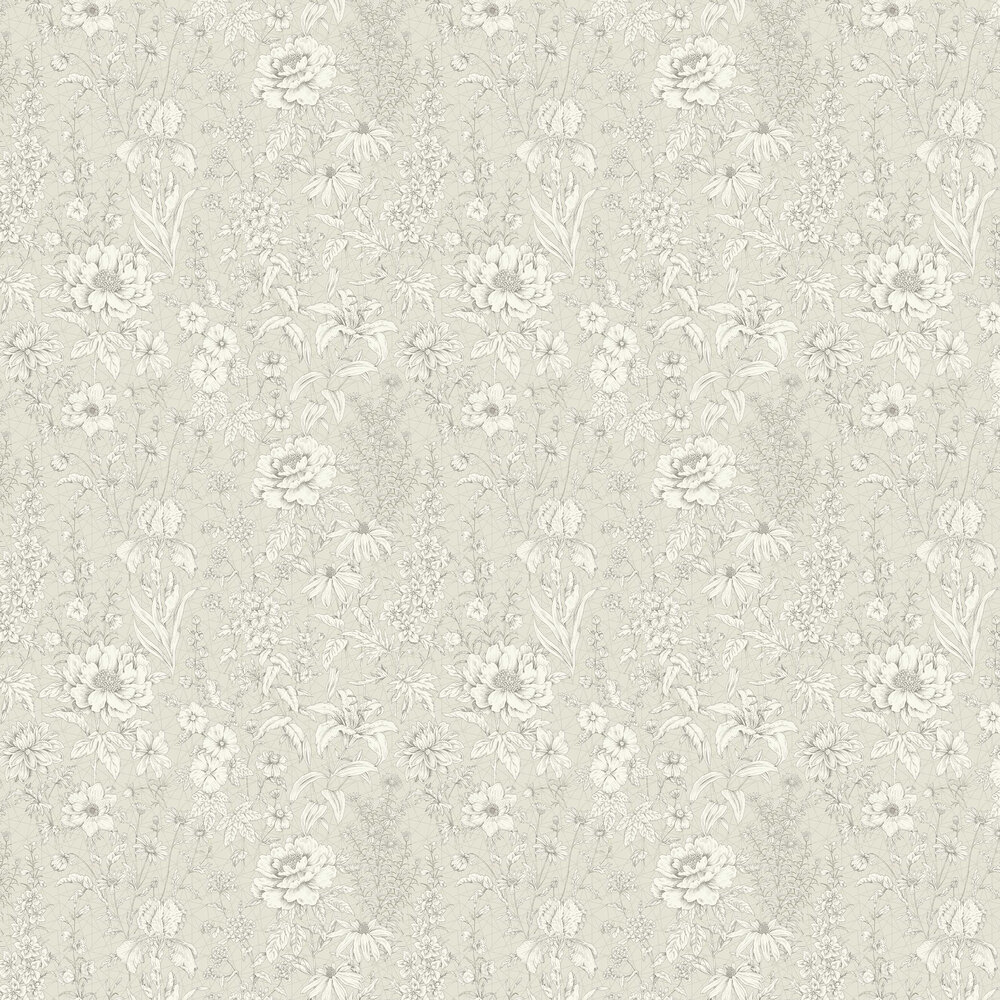 Lavana Floral Wallpaper - Cream - by Albany