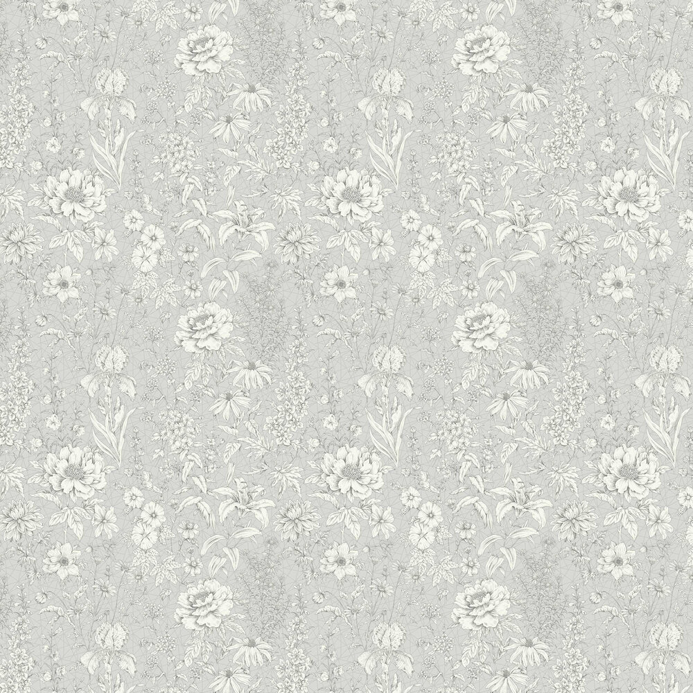 Albany Lavana Floral Grey Wallpaper - Product code: 35823