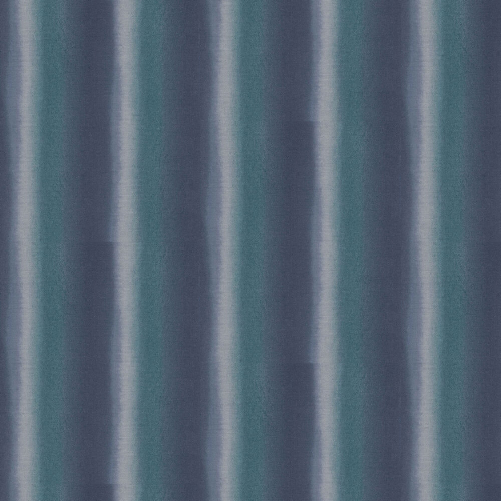 Watercolour Stripe Wallpaper - Deep Blue - by Galerie