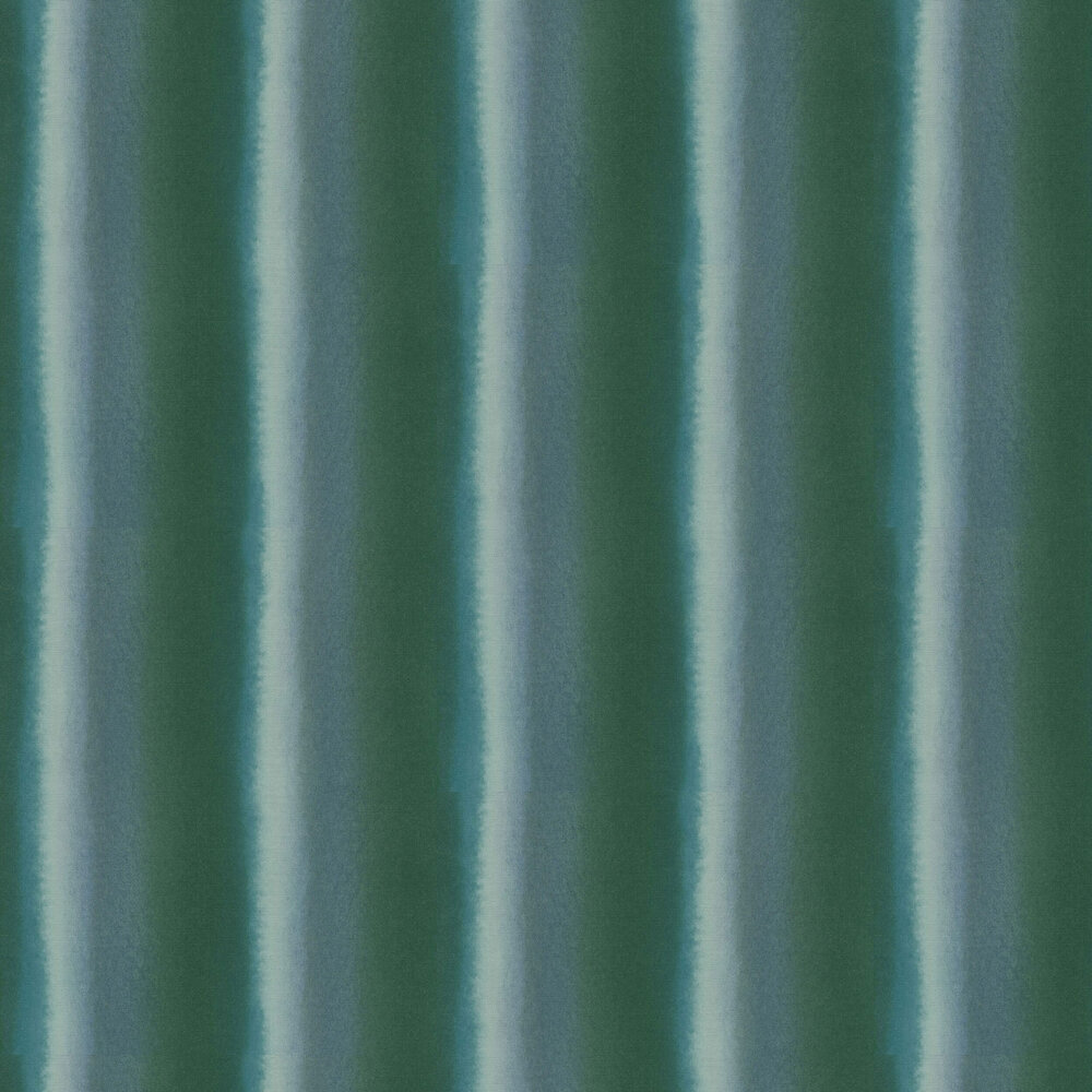 Watercolour Stripe Wallpaper - Green - by Galerie