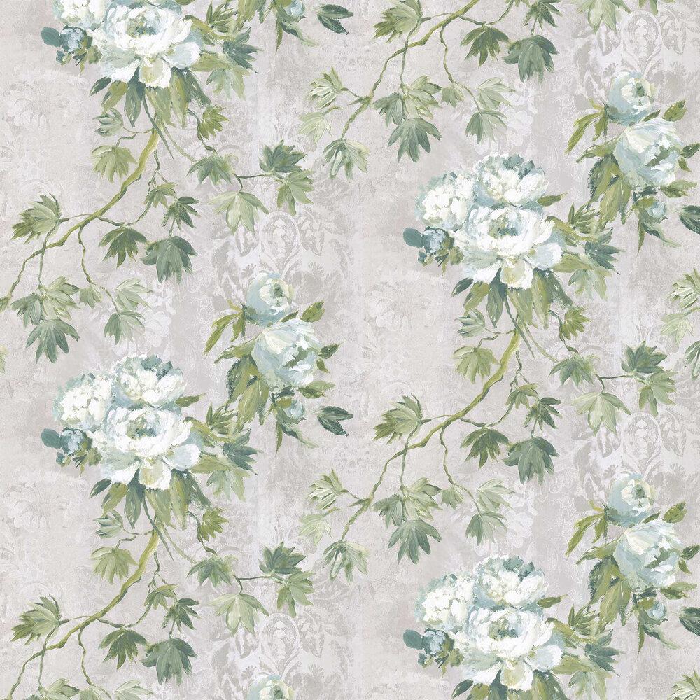 Floreale Wallpaper - Steel - by Designers Guild
