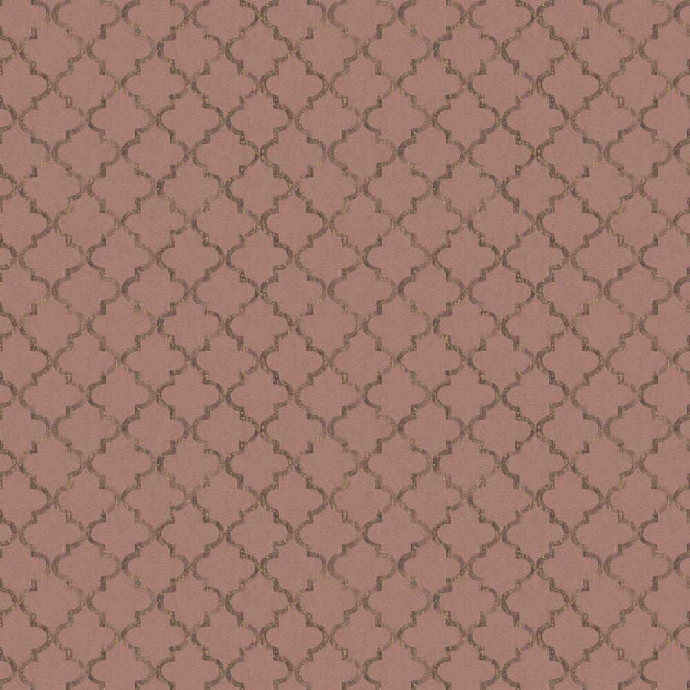 Eternal Harmony Wallpaper - Red & Brown - by Boråstapeter