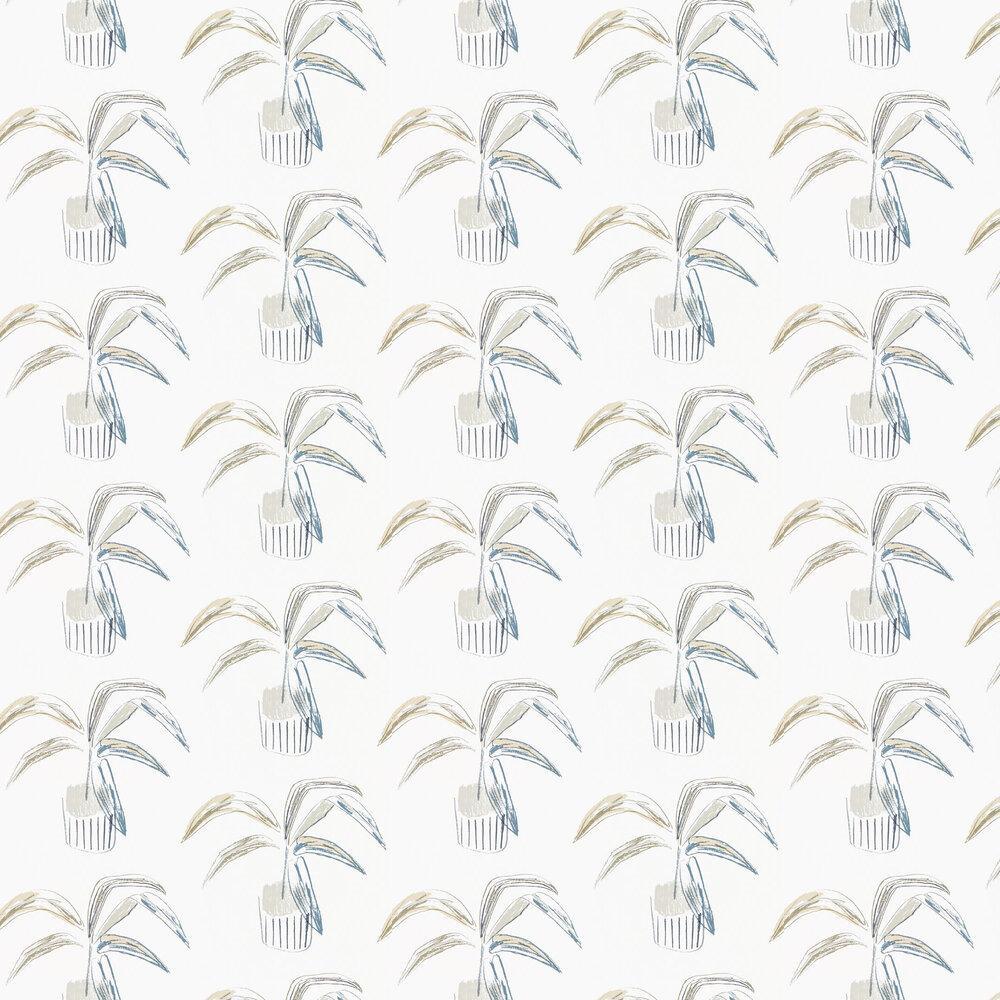 Crassula Wallpaper - Putty / Slate - by Scion
