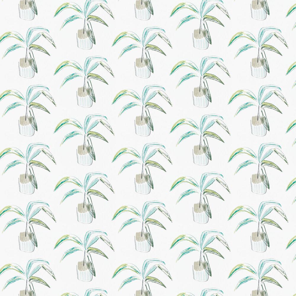 Crassula Wallpaper - Juniper / Lime - by Scion